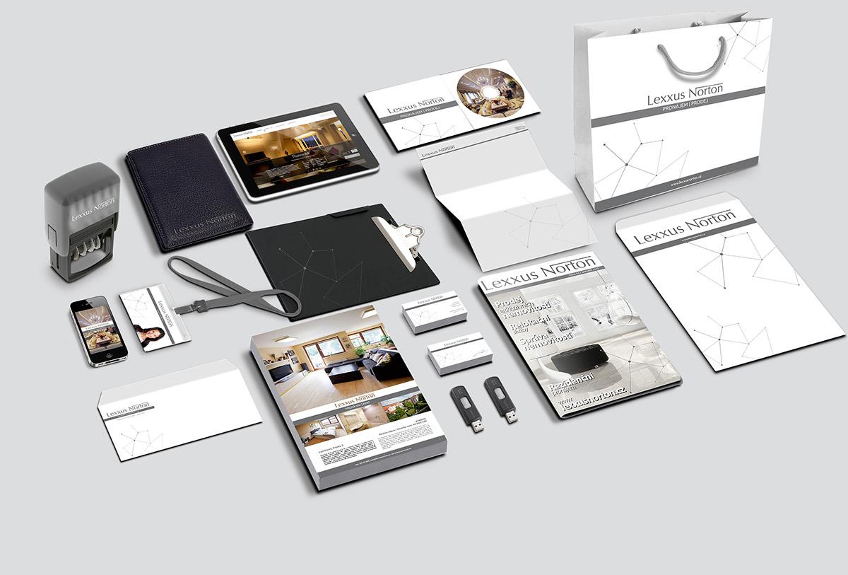 Grafický návrh merkantilních tiskovin pro Lexxus Norton