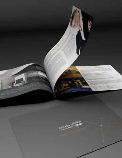 Grafický návrh brožury pro Lexxus Norton