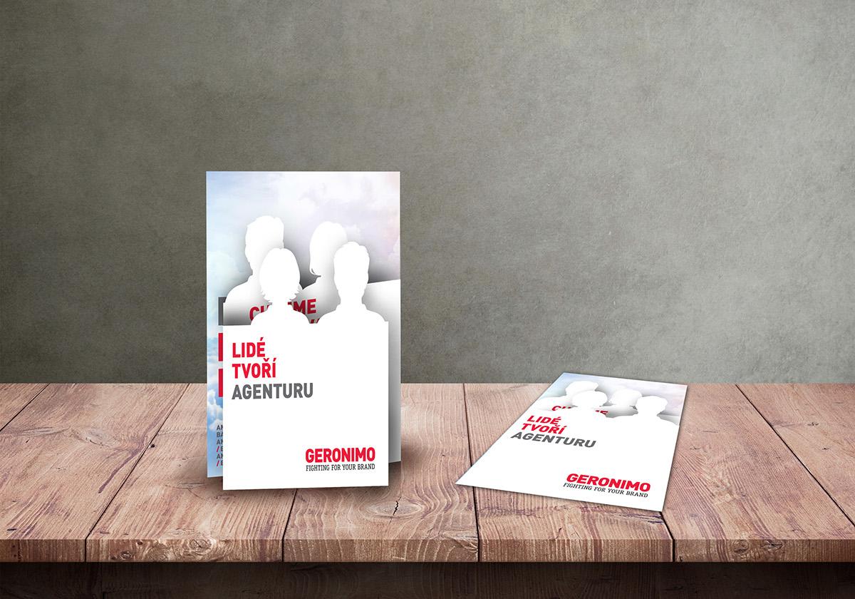 Grafický návrh brožury pro Geronimo