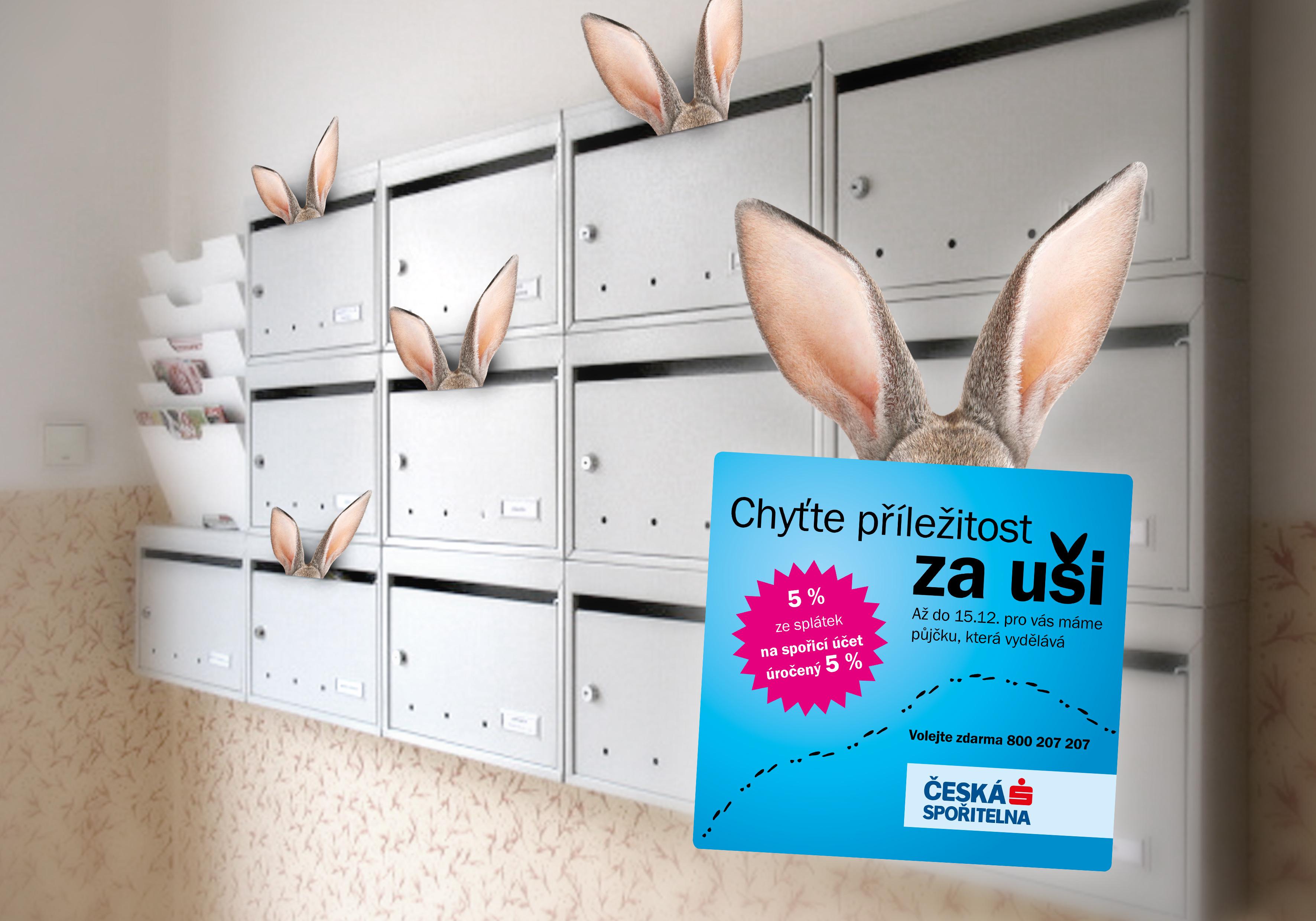 Grafický návrh direct mailu pro Českou spořitelnu